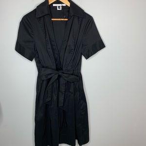 Diane vonFurstenberg Black Faux Wrap Dress Size 12